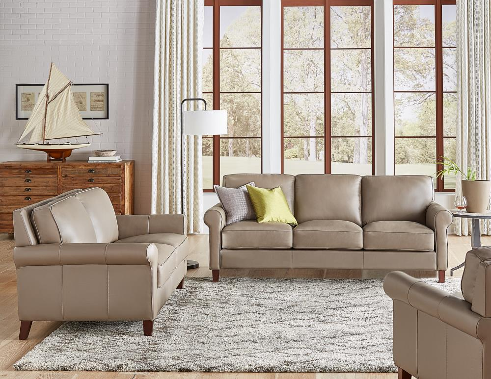 Hydeline Laa 100 Leather 3 Piece, Leather Living Room Furniture