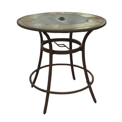 Round Bar Table In The Patio Tables, Round Stone Patio Table