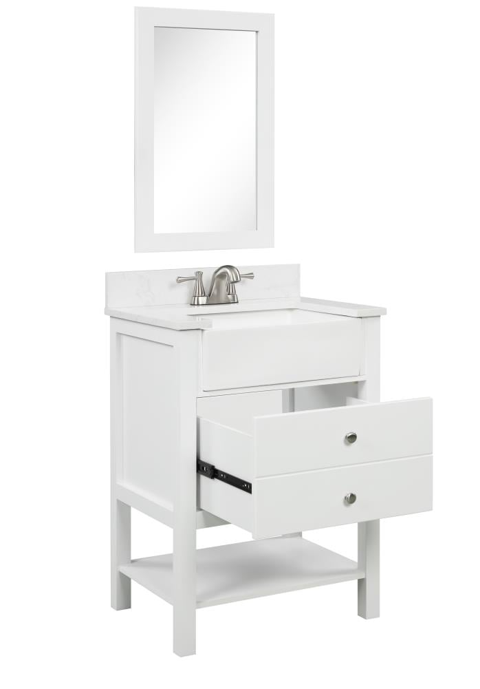 Style Selections 25 In White Farmhouse, Farmhouse Bathroom Vanity Cabinets