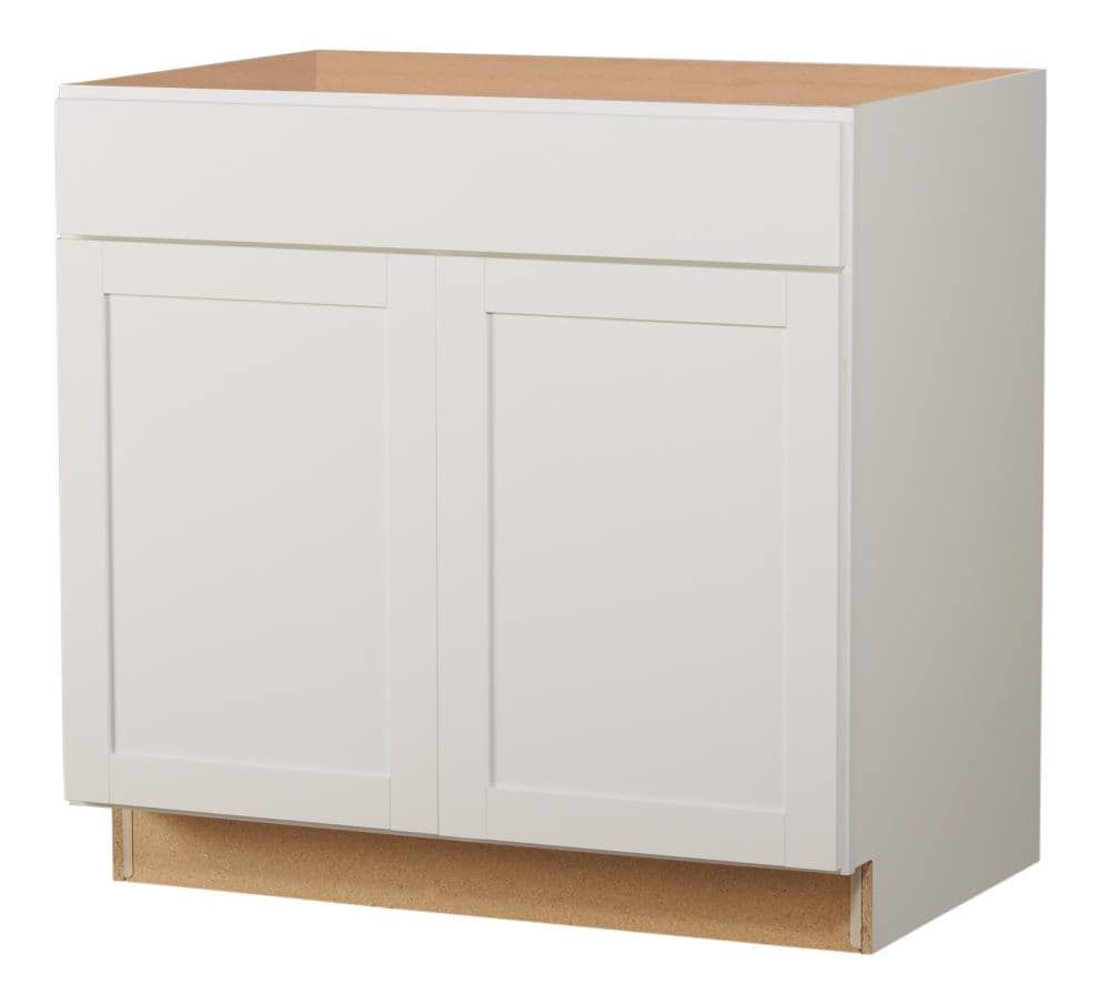 Diamond Now Arcadia 36 In W X 35 In H X 23 75 In D White Sink Base Fully Assembled Cabinet In The Stock Kitchen Cabinets Department At Lowes Com