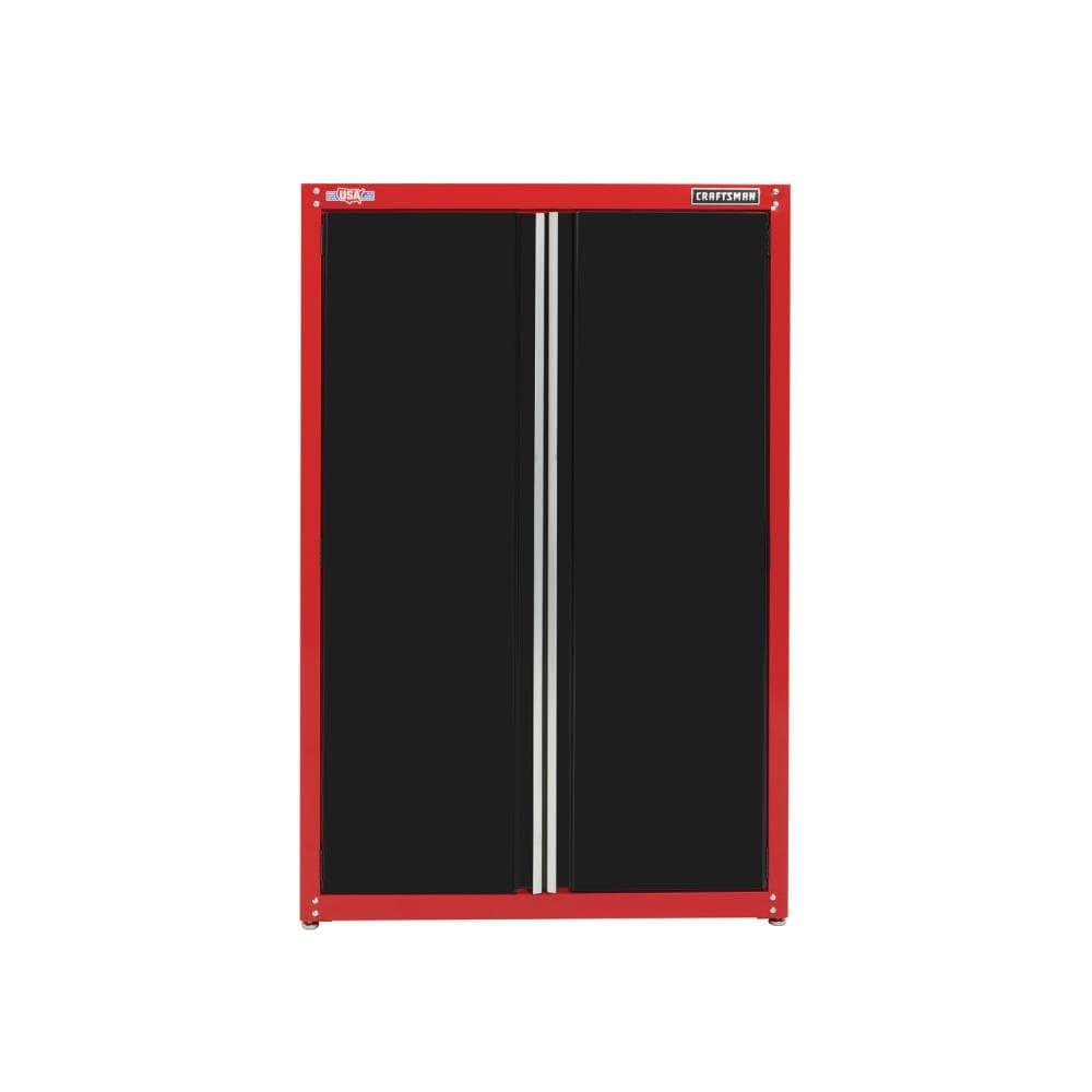 Steel Freestanding Garage Cabinet, Craftsman 6 Heavy Duty Floor Cabinet With 4 Shelves