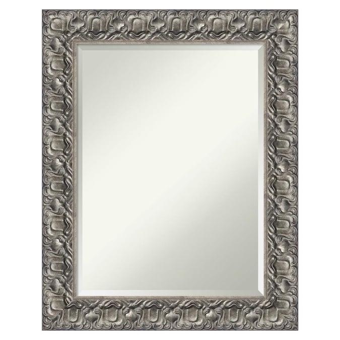 Amanti Art Silver Luxor 23 75 In, Silver Bathroom Mirrors