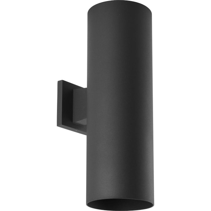 Black Led Outdoor Wall Light, Outdoor Cylinder Light