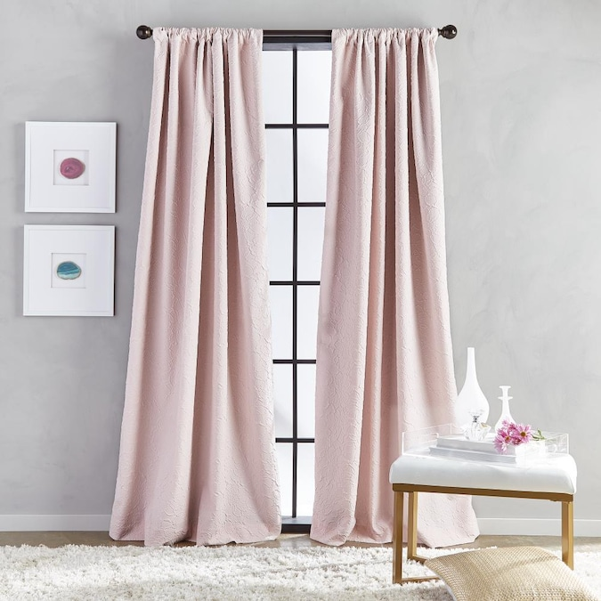 Chf 84 In Blush Polyester Room, White Room Darkening Curtains Canada