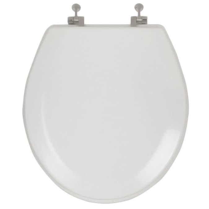 Aquasource White Round Toilet Seat In