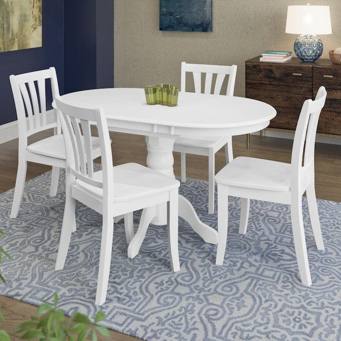 Corliving Dillon White Dining Room Set, White Dining Room Table And Chairs