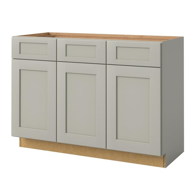 Allen Roth Stonewall 48 In Stone Bathroom Vanity Cabinet In The Bathroom Vanities Without Tops Department At Lowes Com