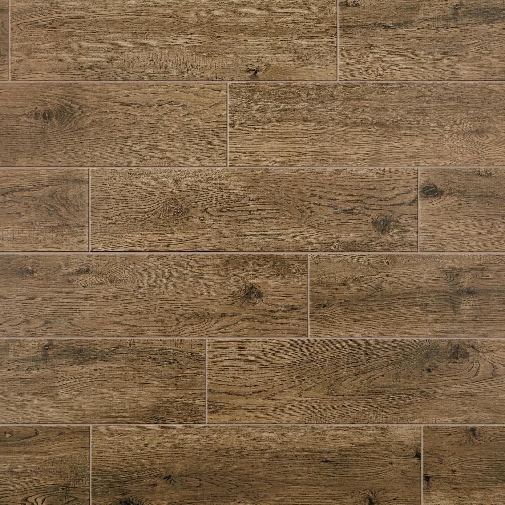 Mohawk ForeverStyle Oak Wood 9 in x 9 in Matte Porcelain Wood ...