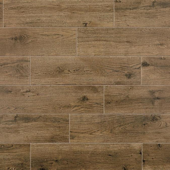 Matte Porcelain Wood Look Floor Tile