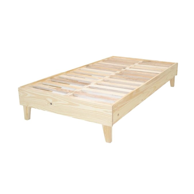 Eluxury Natural Twin Extra Long Bed, How Long Is A Extra Twin Bed Frame