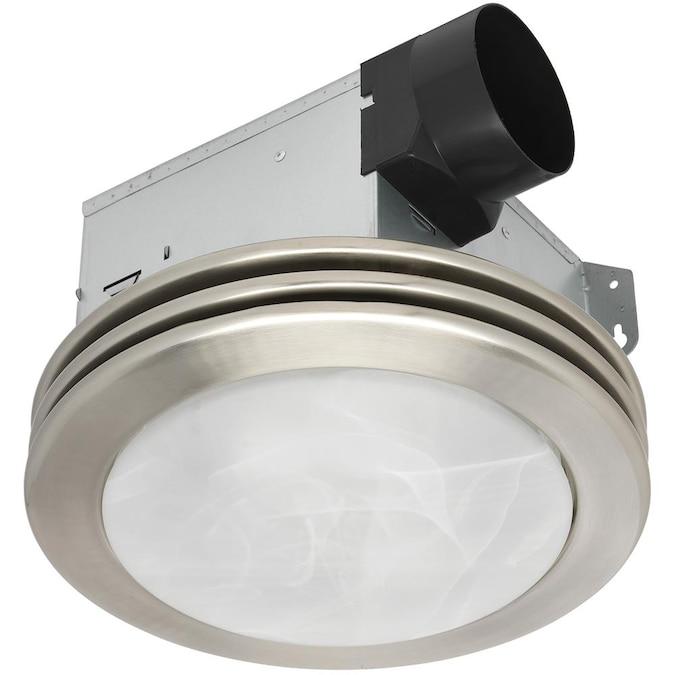 Utilitech Ventilation Fan 2 Sone 80 Cfm, Brushed Nickel Bathroom Exhaust Fan