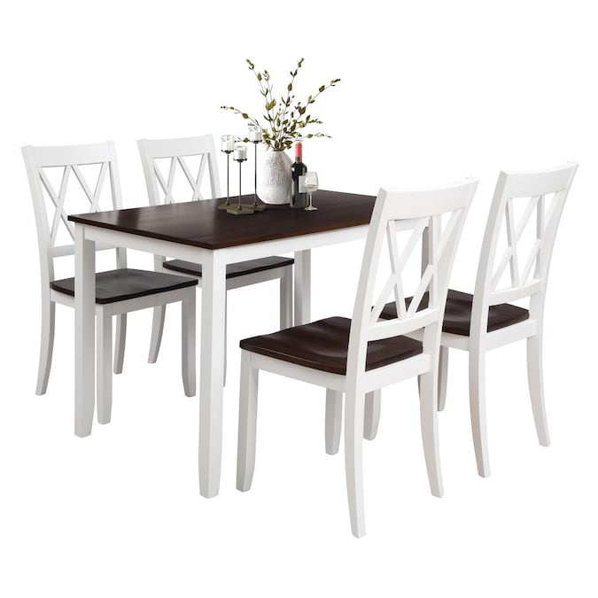 Chairs Wood Dining Set, Black And White Dining Room Set
