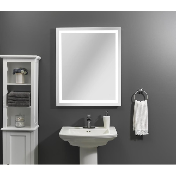 Home2o Helena 30 In Lighted Led Fog Free Led Lit Mirror Rectangular Frameless Bathroom Mirror In The Bathroom Mirrors Department At Lowes Com