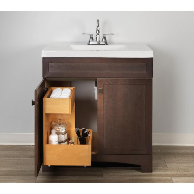 Style Selections Vanity Storage Natural, Replacement Drawers For Bathroom Vanity
