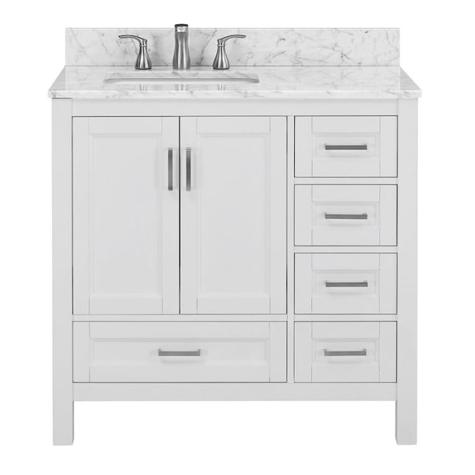 Unbranded Sl Durham White 36 In Vty Mbl Top In The Bathroom Vanities With Tops Department At Lowes Com