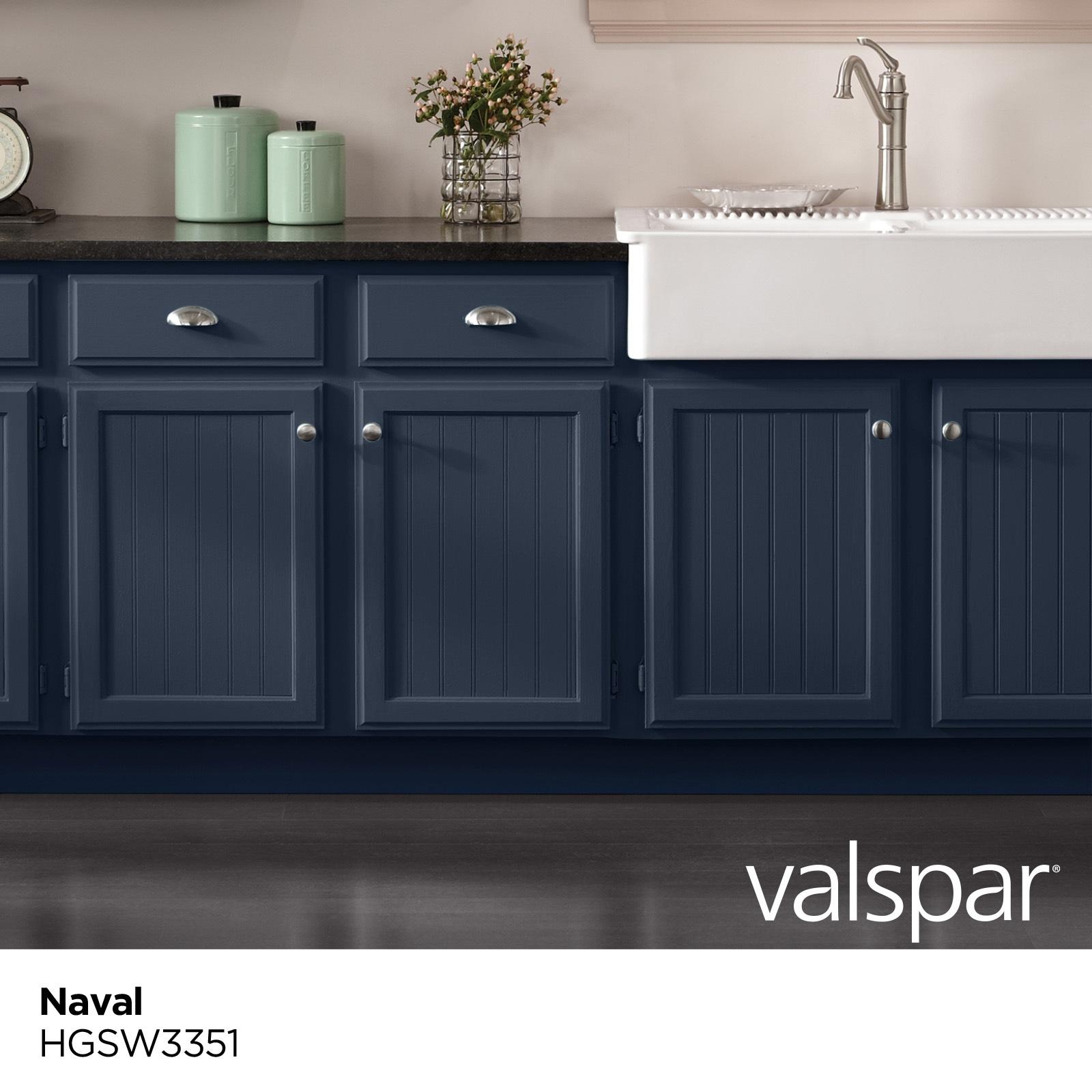 Valspar Cabinet and Furniture Satin Naval Hgsw9 Enamel Interior ...