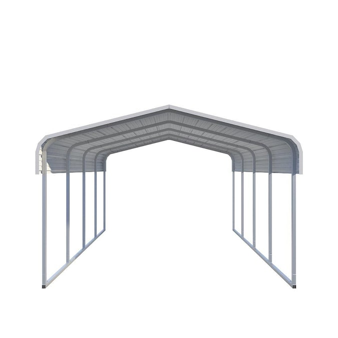 Versatube 12 Ft X 20 Ft White Metal Carport In The Carports Department At Lowes Com