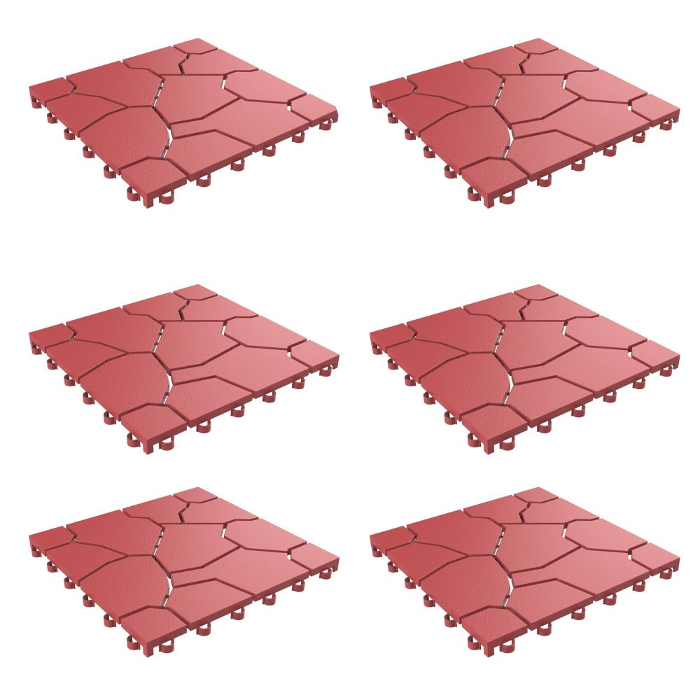 Nature Spring Patio And Deck Tiles, Outdoor Interlocking Tiles For Patio