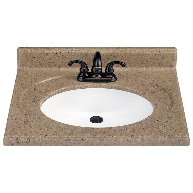 Estate By Rsi 25 W X 22 D Kona Vanity Top In The Bathroom Vanity Tops Department At Lowes Com