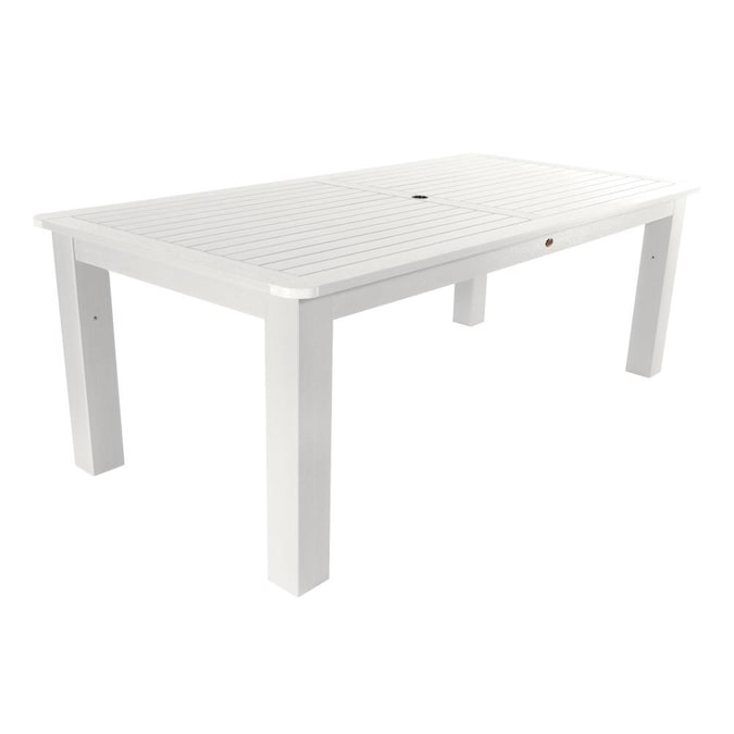 Highwood Rectangle Outdoor Dining Table, Outdoor Patio Dining Table With Umbrella Hole