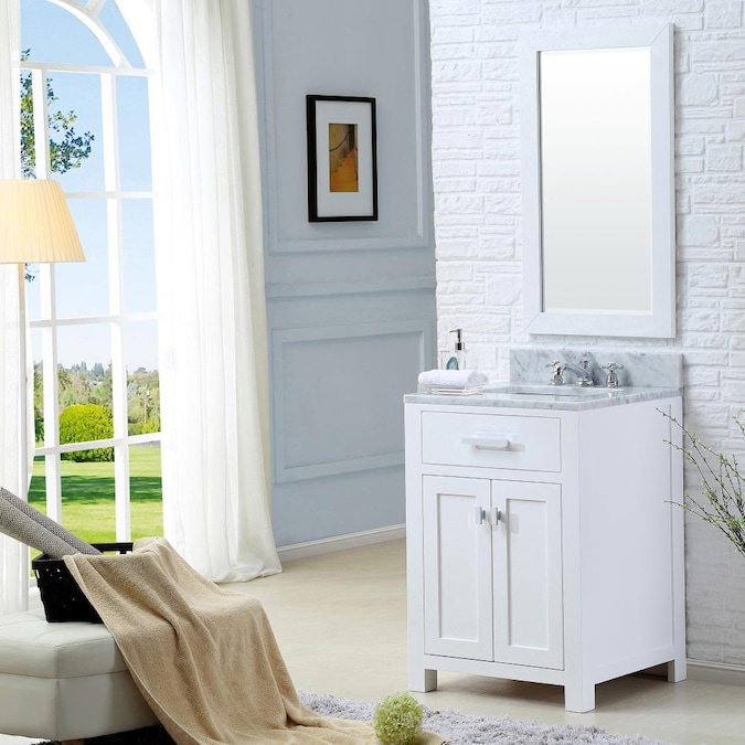 Water Creation Madison 24 In Pure White, 24 Inch Bathroom Vanity With Top And Sink