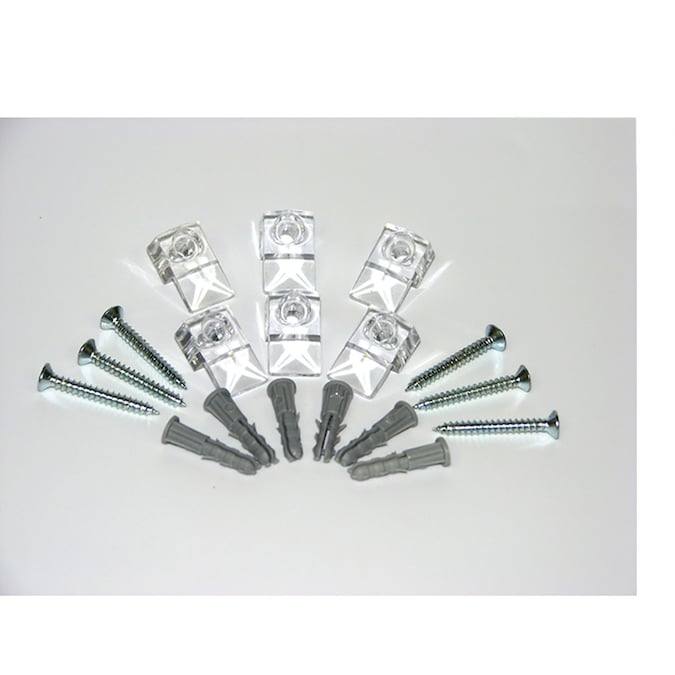 Style Selections Plastic Mirror Clips, Clear Plastic Mirror Clips
