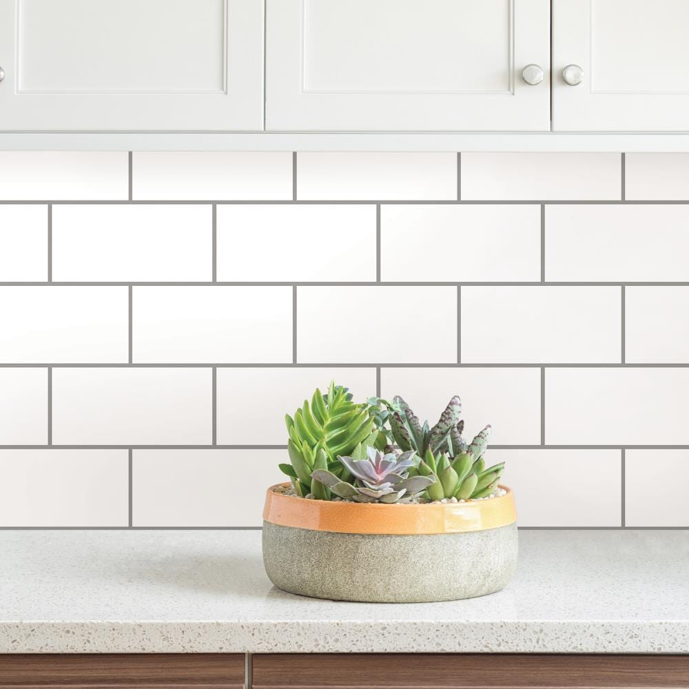Inhome Subway Peel And Stick Backsplash Tiles In The Wall Decals Department At Lowes Com