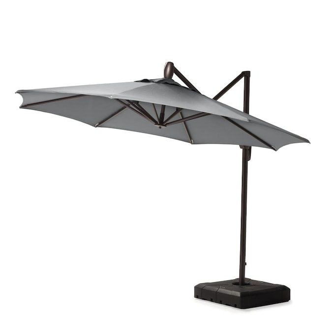 Rst Brands 10 Ft Charcoal Grey Push, 10 Ft Cantilever Patio Umbrella