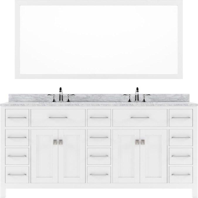 Virtu Usa Ine Parkway 72 In White, Virtu Bathroom Vanities