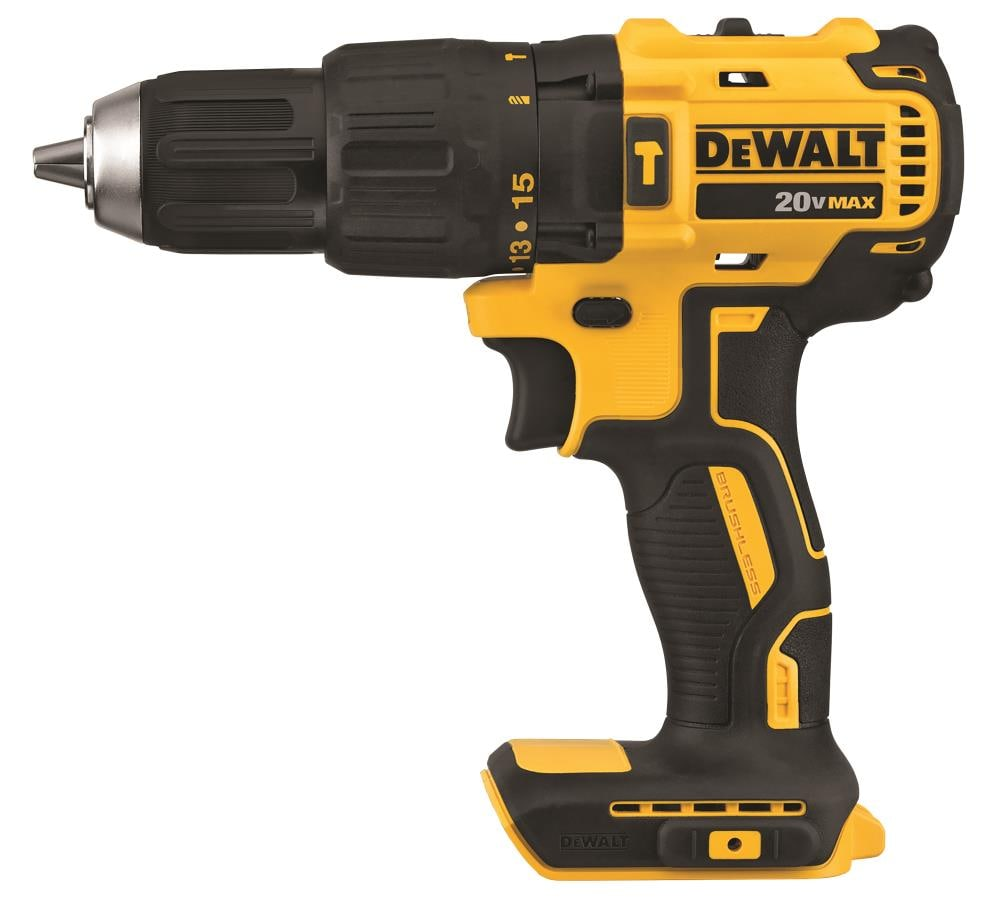 DEWALT 1/2-in 20-Volt Max Variable Speed Brushless Cordless Hammer Drill in Yellow | DCD778B