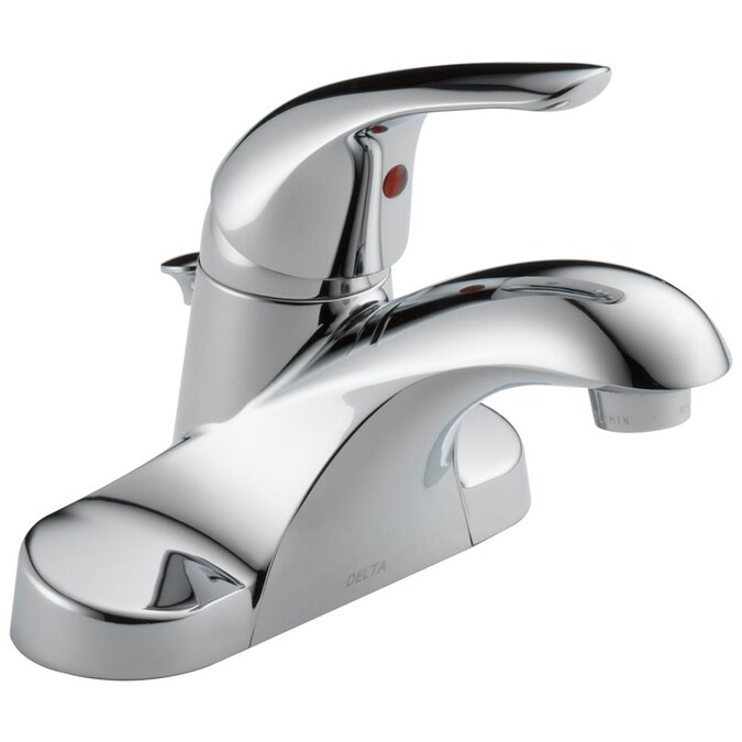 Delta Foundations Chrome 1 Handle 4 In, Bathroom Sink Faucets