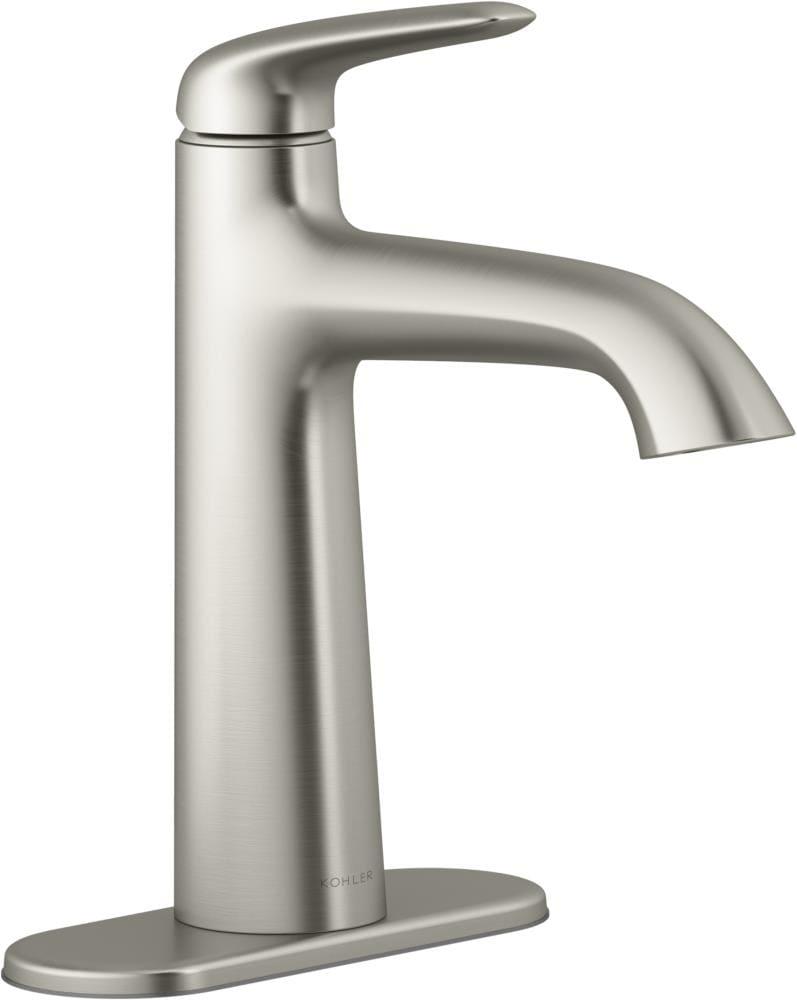 Kohler Avail Vibrant Brushed Nickel 1, Single Hole Faucet For Bathroom