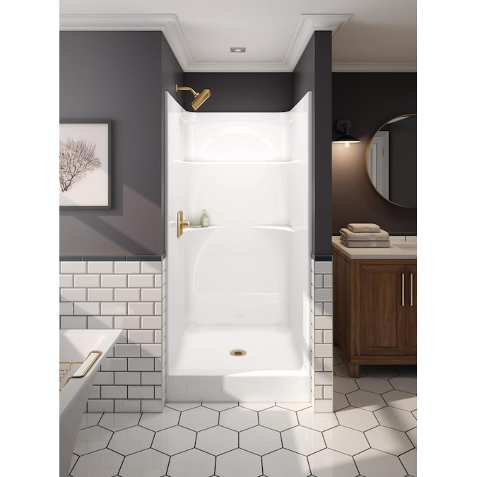 Delta Styla 36 X 37 One Piece, One Piece Shower Stalls With Glass Doors