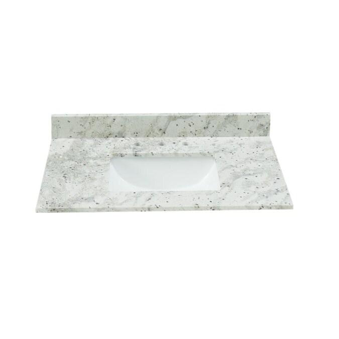 Bestview 37 In Glacier White Granite, Granite Bathroom Vanity Tops With Sink