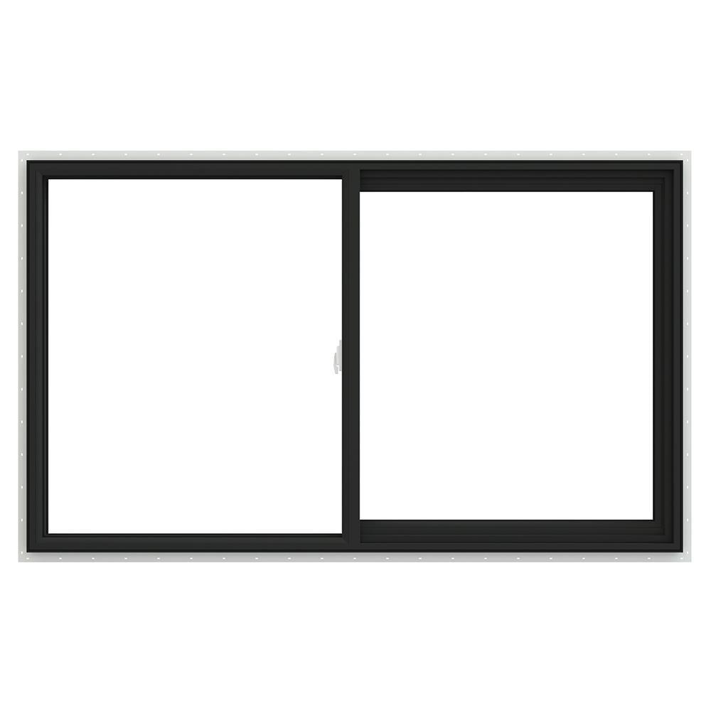V-2500 59.5-in x 35.5-in x 2.9065-in Jamb Right-operable Vinyl New Construction Egress Bronze Sliding Window   - JELD-WEN LOWOLJW232900546