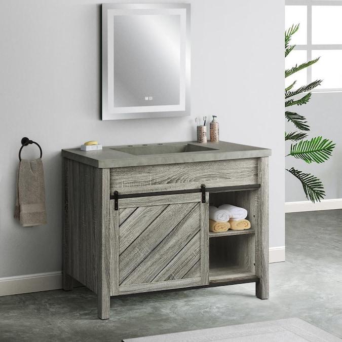 Saint Birch Cristopher 42 In Light Gray Bathroom Vanity Cabinet In The Bathroom Vanities Without Tops Department At Lowes Com