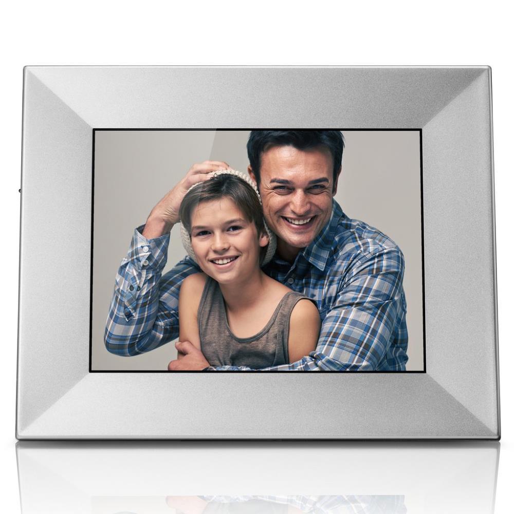 Nixplay Iris 8-in Wireless Digital Picture Frame, Silver | W08E SKU308