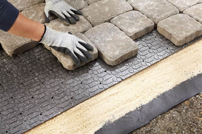 L Polypropylene Paver Base Panel, How To Lay Your Own Patio Pavers