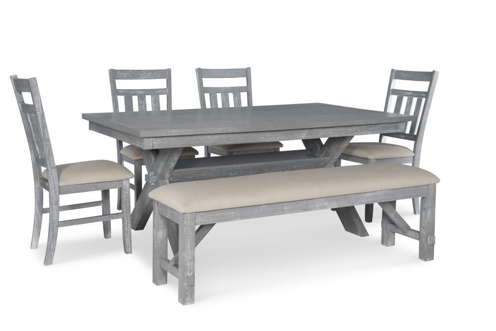 Powell Turino Weathered Gray Dining, Gray Dining Room Set