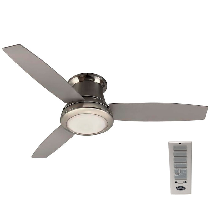 Harbor Breeze Sail Stream 52 In Nickel Led Ceiling Fan With Remote 3 Blade In The Ceiling Fans Department At Lowes Com