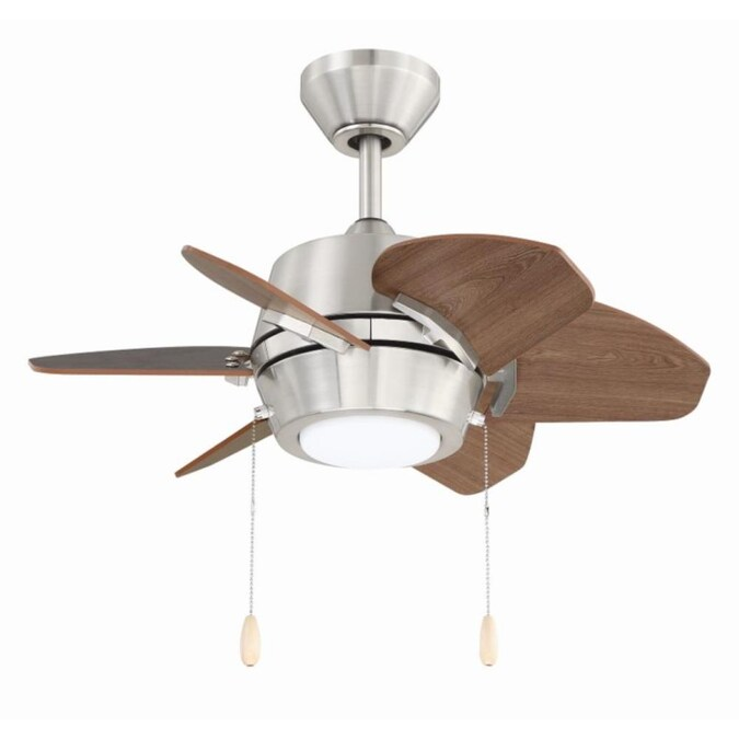 Harbor Breeze Gaskin 24 In Brushed Nickel Led Indoor Ceiling Fan 6 Blade In The Ceiling Fans Department At Lowes Com