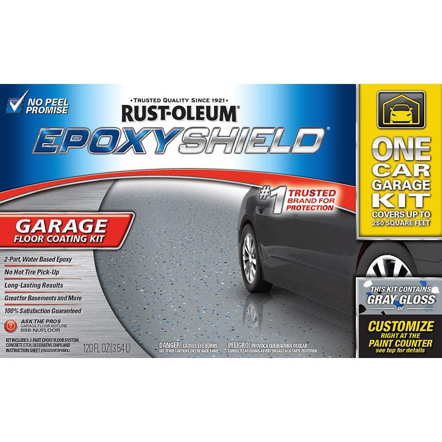 Part Gray Gloss Garage Floor Epoxy Kit