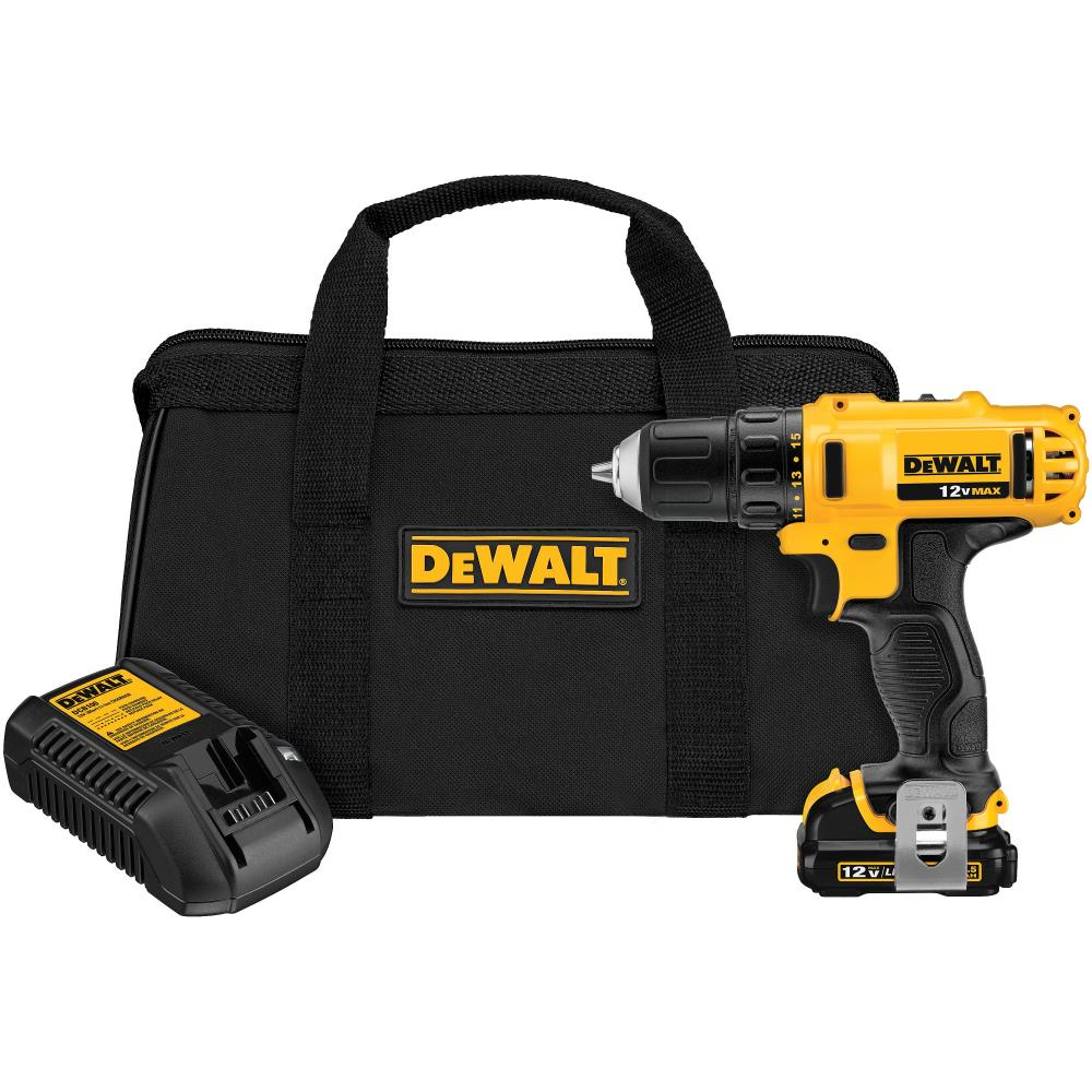 DEWALT 12-Volt Max 3/8-in Cordless Drill (Charger Included and 1-Battery Included) | DCD710S1