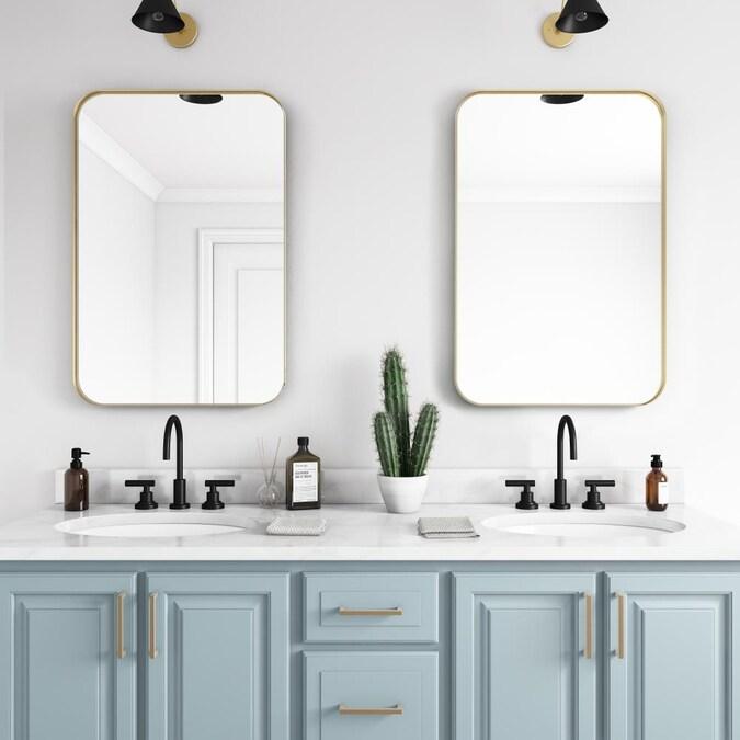 Gold Rectangular Bathroom Mirror, White Bathroom Mirror 30 X 40