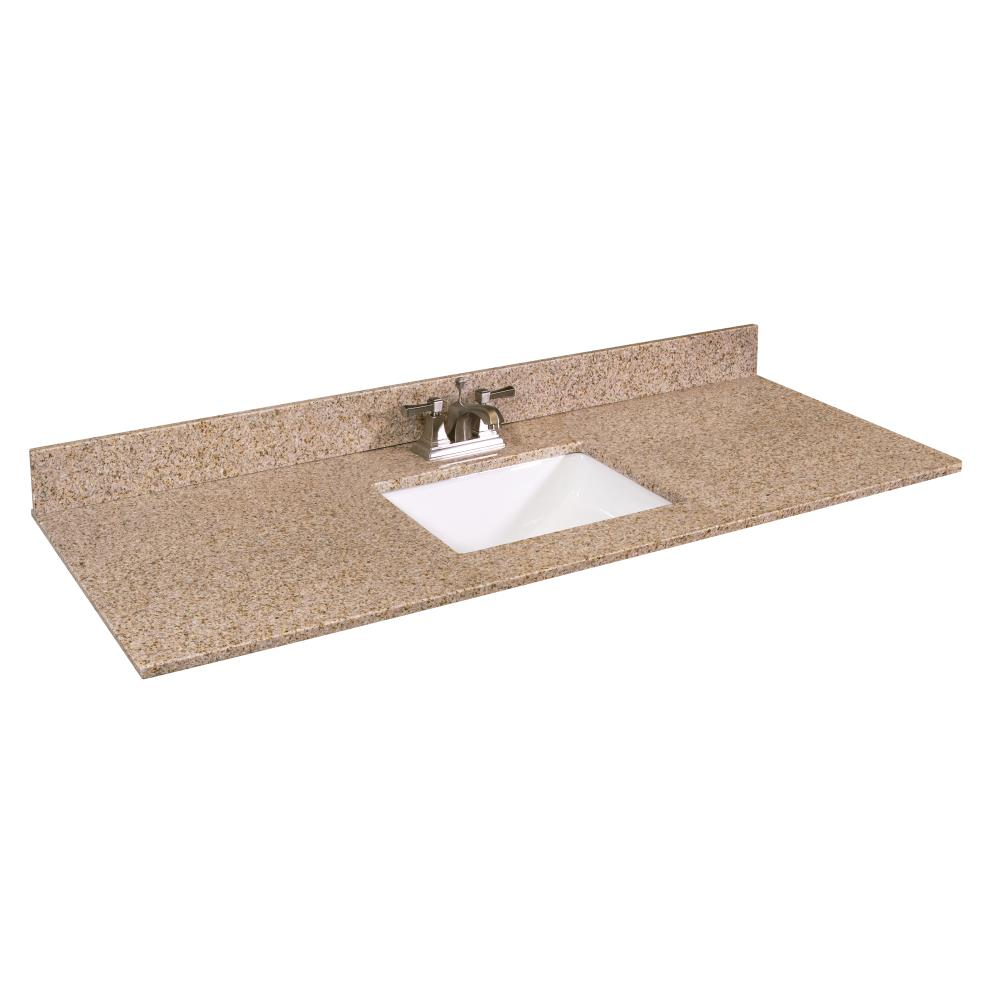 Design House 61 In Golden Sand Granite Single Sink Bathroom Vanity Top In The Bathroom Vanity Tops Department At Lowes Com