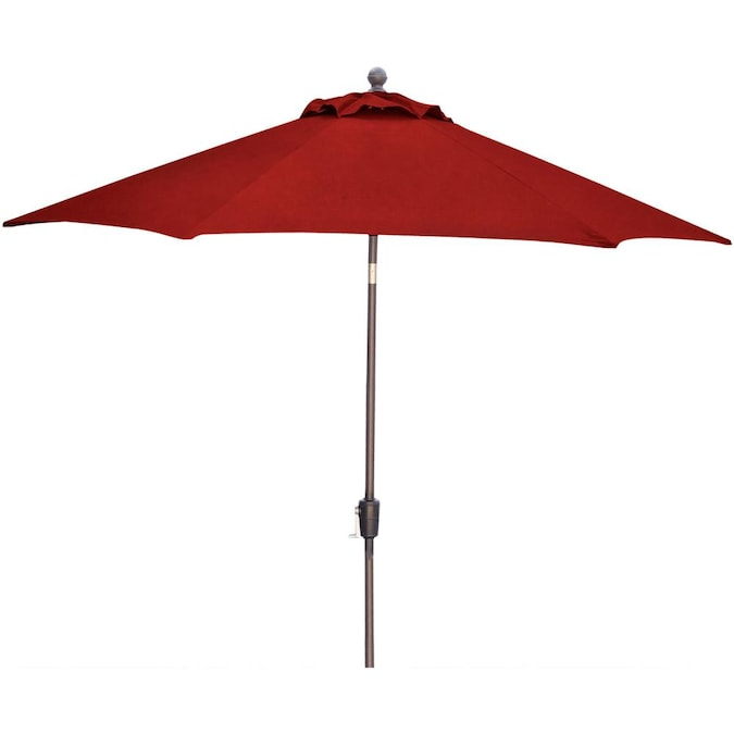 Hanover 11 Ft Red Push On Tilt, Red Patio Table Umbrella