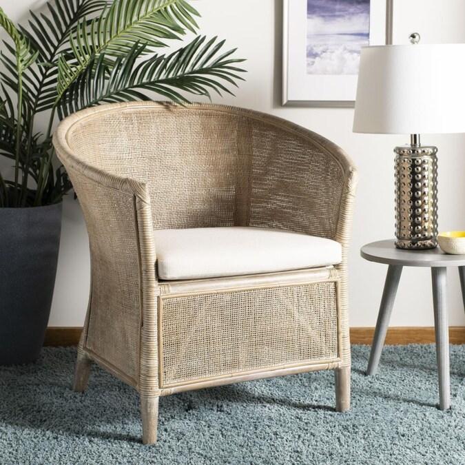 Safavieh Alexana Coastal White Washed, Coastal Living Room Chairs