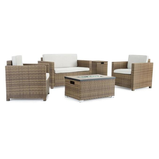 Sego Lily Boulder 4 Piece Metal Frame, Boulder Outdoor Furniture