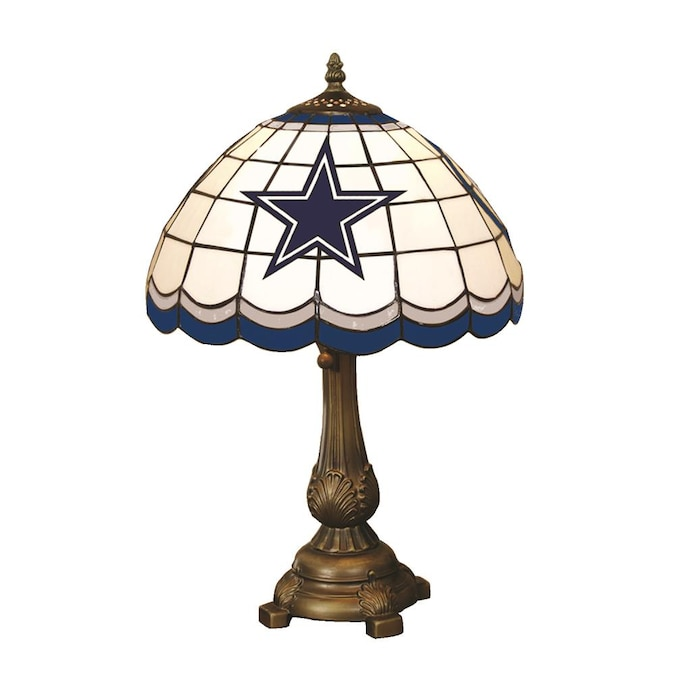 Bronze Table Lamp With Glass Shade, Dallas Cowboys Lamps