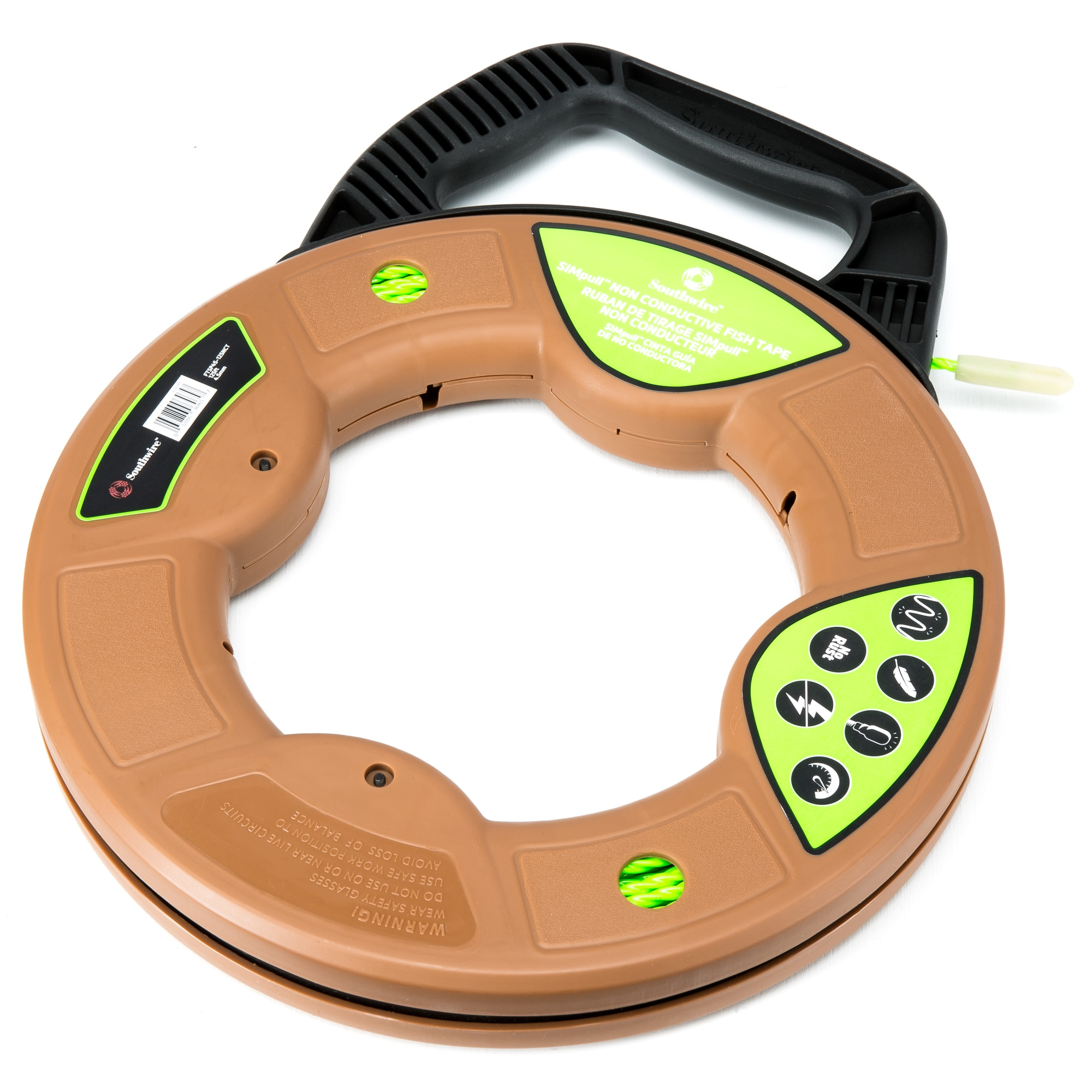 Southwire Ftsp45-125nct SIMPULL Non Conductive Fish Tape 125ft for sale online